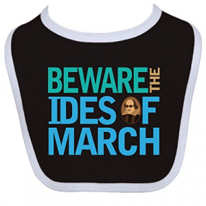... Baby Boys' Julius Caesar Ides Of March Baby Bib One Size Black/White