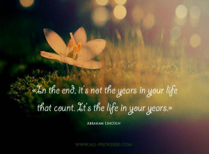 Life Quotes : Abraham Lincoln