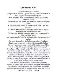 Football Mom Prayer