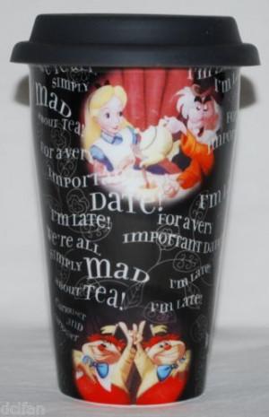 Disney Parks Alice in Wonderland Quotes Ceramic Travel Coffee Mug ...