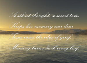 Urn Inscription Poem: A Silent Thought, A Secret Tear