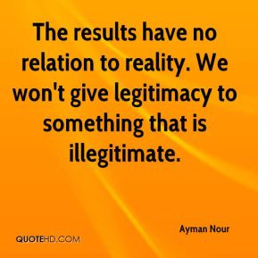 The results have no relation to reality. We won't give legitimacy to ...
