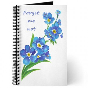 ... & Spiral Notebooks > Forget-Me-Not Watercolor Flower & Quote Journal
