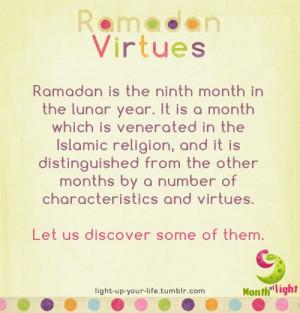 light-up-your-life: Ramadan virtues