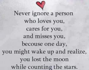 Never ignore a person who