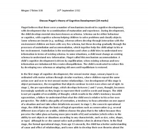 an assessment on piaget essay Read this essay on jean piaget a critical assessment will then be made on the extent to which gender stereotyping acts in accordance to piaget's stages of.