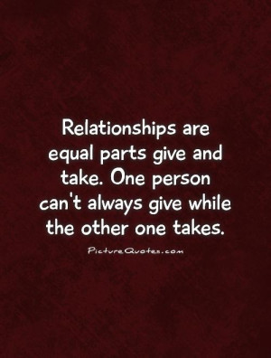 Give And Take Quotes