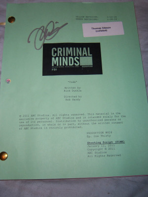 Criminal Minds Fanatic's Favorite Things