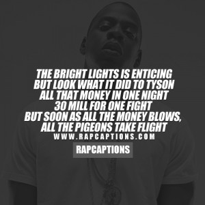 ... money blows, all the pigeons take flight - Jay-Z Quotes / Holy Grail