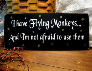 have Flying Monkeys Wood Wizard of Oz Sign Painted Primitive Wall ...