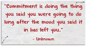 Commitment... the follow through is the most important part. http ...