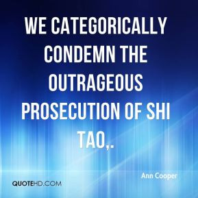 Ann Cooper - We categorically condemn the outrageous prosecution of ...