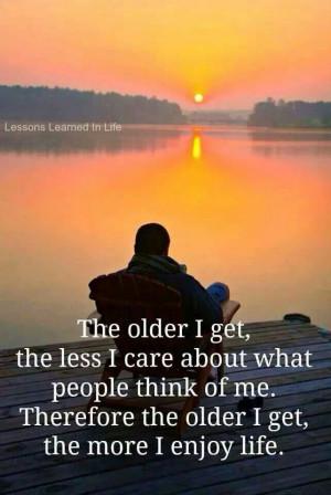 Older and 'wiser'