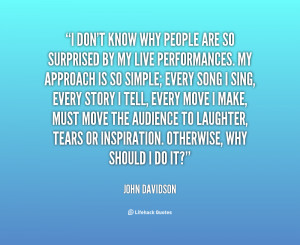 Singing well has always been important to me, but the most important ...