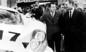 Porsche 917 race car, Gerhard Mitter, and Dr. Ferdinand Karl Piëch
