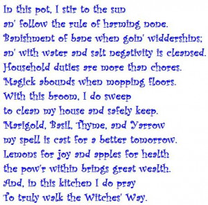 Poem of the Kitchen Witch Pictures, Images and Photos
