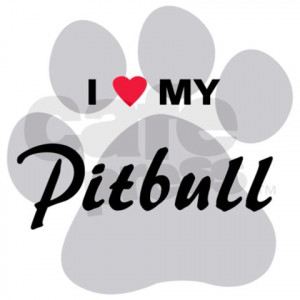 Love My Pitbull I love my pitbull car magnet