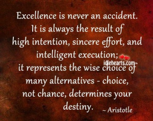 Excellence. Aristotle