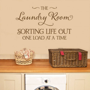 laundry room' wall sticker quote by making statements ...