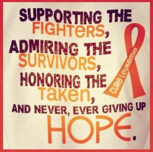 Leukemia quote.