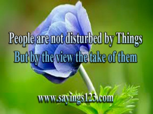 People are not disturbed