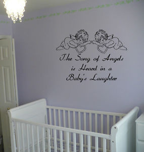 The-Song-of-Angels-Babys-Laughter-Quote-Vinyl-Bedroom-Wall-Art-Sticker ...