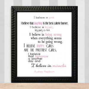 special audrey quote for the baby and gigi! hanging in their rooms