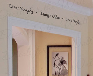 Live Simply Love Adhesive Wall Quote Sticker