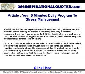 ... Minutes Daily Program To Stress Management_ Inspirational Quotes