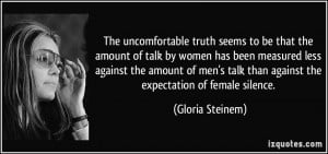 The uncomfortable truth seems to be that the amount of talk by women ...