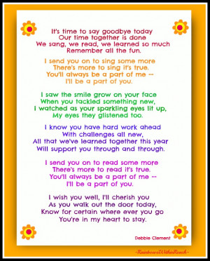 Poems From Teachers to Students