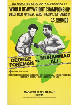 PS-3713 Muhammad Ali / George Foreman Poster