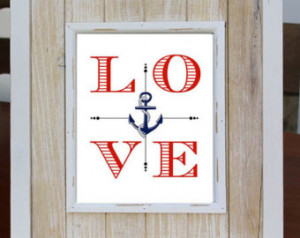 NAUTICAL LOVE Digital Download Art Print, Love Quote, Instant Download ...