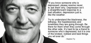 Stephen Fry quote on depression