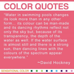 Color Quotes By David Hockney