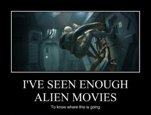 This post is only for those who are fond of aliens movies. Take a look ...