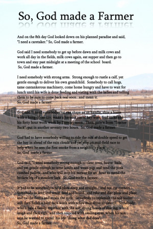 Farmers, Paul Harvey, God, Country Girl Quotes, Cattle Farming Quotes ...