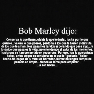 BobMarley #Quote in #Spanish #Inspiration #Motivation #Thoughts # ...