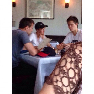 """Theo James, Shailene Woodley and Ansel Elgort at """"The National"""" in ..."""