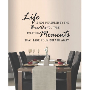 ... Wall Art > Living / Dining Room > Breaths you Take Vinyl Wall Quote