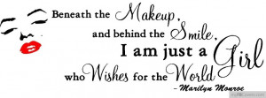 Marilyn Monroe - Beneath the makeup