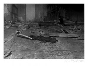 San Francisco, Charred Corpse of a Victim of the 1906 Earthquake and ...