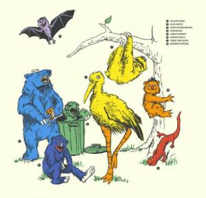 sesamestreet characters in the wild / theinternetaccordingtoadrian
