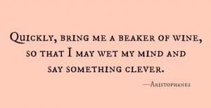 wine quote aristophanes