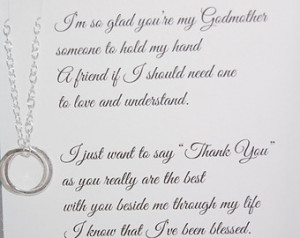 Godmother necklace, Thank you to Godmother, POEM for Godmothers ...