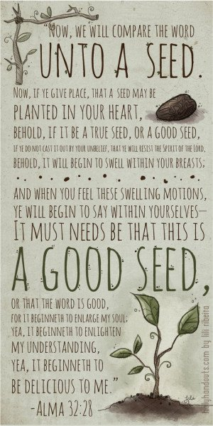 ... Handouts–lots of beautiful pics made with scriptures and lds quotes