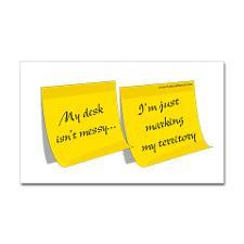 Messy Desk Rectangle Sticker for