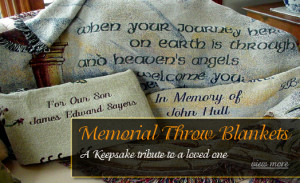 memorial blankets embroidered