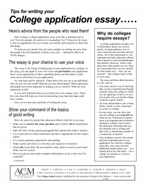 college essay application tips