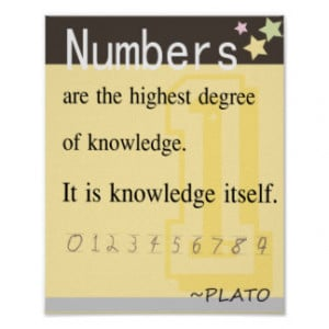 Math quote by Plato Posters